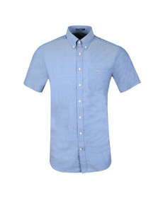 Gant Mens Blue Broadcloth S/S Shirt