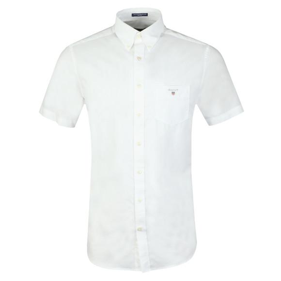 Gant Mens White Broadcloth S/S Shirt