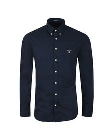 Gant Mens Blue L/S Broadcloth Shirt