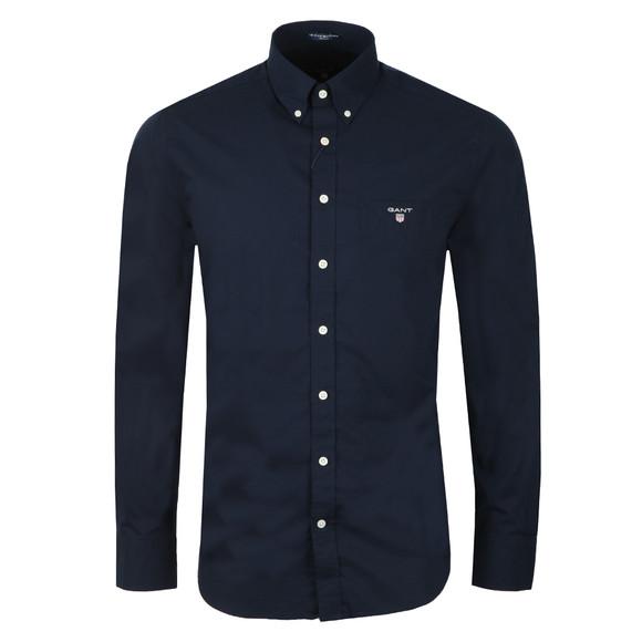 Gant Mens Blue L/S Broadcloth Shirt main image