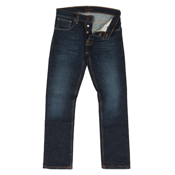 Nudie Jeans Mens Blue Grim Tim Jeans main image
