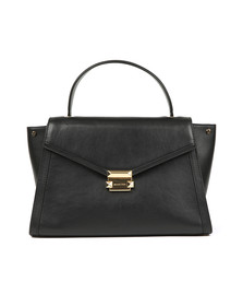 Michael Kors Womens Black Whitney Large Satchel