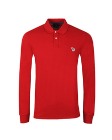 PS Paul Smith Mens Red Zebra LS Polo Shirt