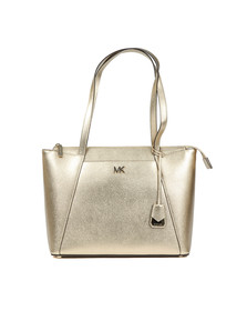 Michael Kors Womens Gold Maddie Mid East West Tote Bag