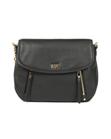 Michael Kors Womens Black Evie Mid Shoulder Flap Bag