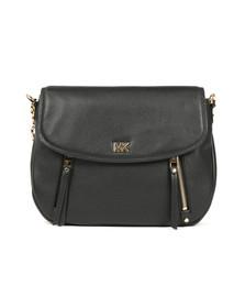 Michael Kors Womens Black Evie Mid Shoulder Flap Bag
