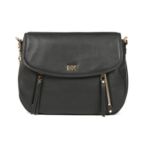 Michael Kors Womens Black Evie Mid Shoulder Flap Bag main image