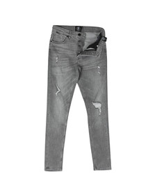 Gym King Mens Grey Denim Distressed Jean