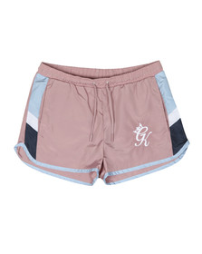 Gym King Mens Pink Retro Swim Short