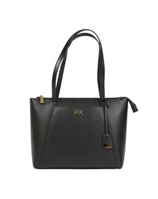 Michael Kors Womens Black Maddie MId East West Tote Bag