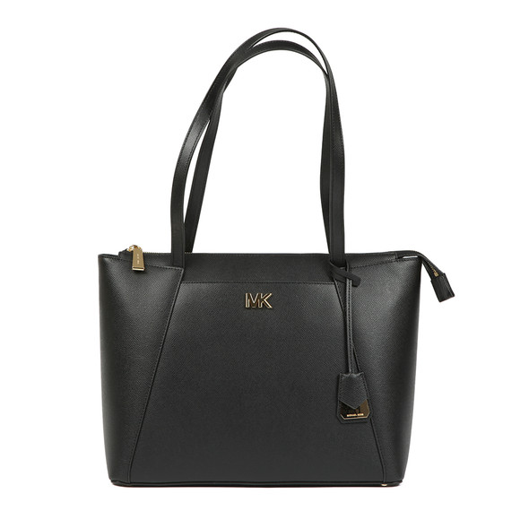 Michael Kors Womens Black Maddie Mid East West Tote Bag main image