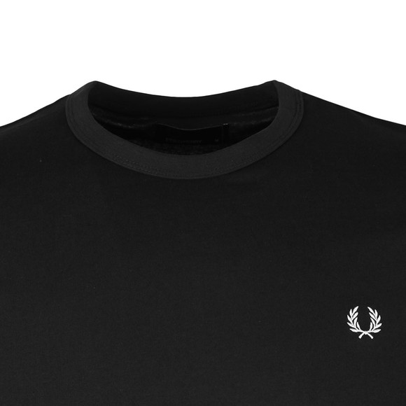 Fred Perry Sportswear Mens Black S/S Ringer T-Shirt main image