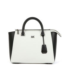Michael Kors Womens White Nolita Mid Satchel