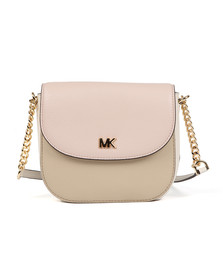 Michael Kors Womens Beige Half Dome Crossbody Bag