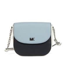 Michael Kors Womens Blue Half Dome Crossbody Bag