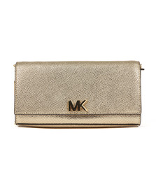 Michael Kors Womens Gold Mott Large East West Clutch