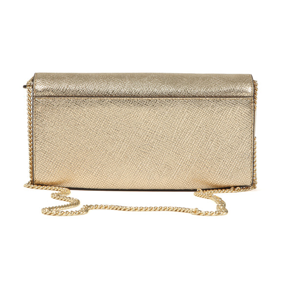 Michael Kors Womens Gold Mott Large East West Clutch main image