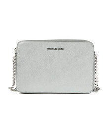 Michael Kors Womens Silver Large EW Crossbody Bag