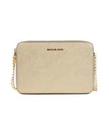 Michael Kors Womens Gold Large EW Crossbody Bag