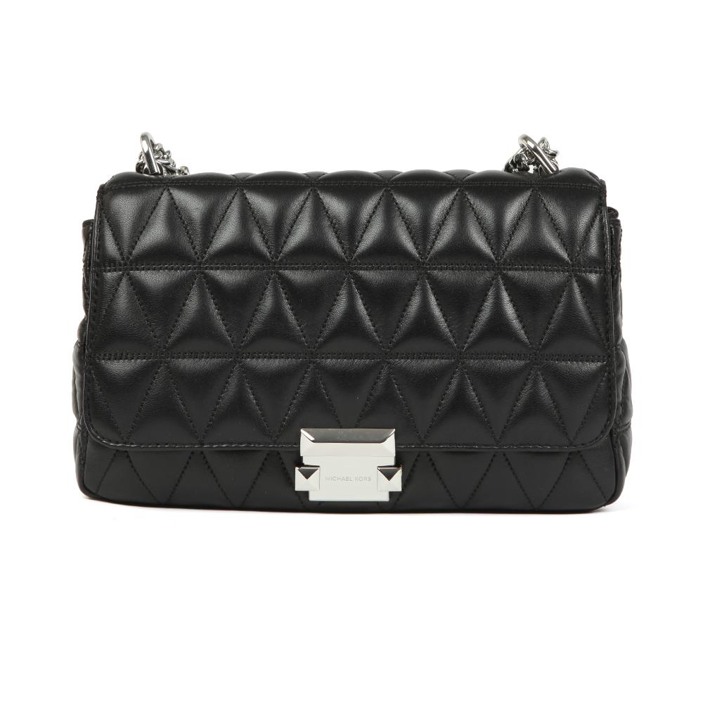 fb007cf38df1 Michael Kors Womens Black Sloan Large Chain Shoulder Bag