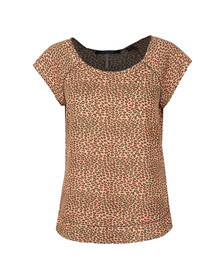 Maison Scotch Womens Multicoloured Short Sleeve Top With Special Stitch Detail