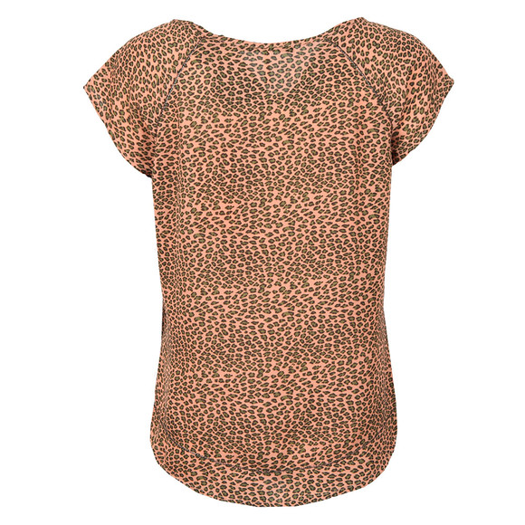 Maison Scotch Womens Multicoloured Short Sleeve Top With Special Stitch Detail main image