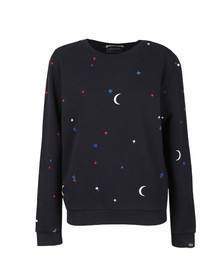 Maison Scotch Womens Blue Allover Artwork Sweatshirt