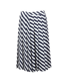 Michael Kors Womens Blue Graphic Bias Stripe Skirt