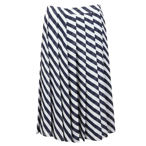 Michael Kors Womens Blue Graphic Bias Stripe Skirt main image