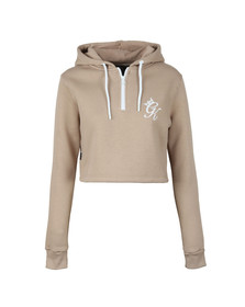 Gym king Womens Beige Kady Crop Hoody