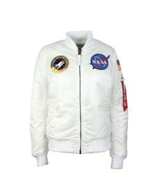 Alpha Industries Womens White MA1 Nasa Bomber