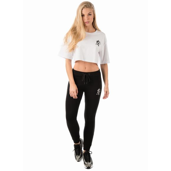 Gym king Womens White Kourtney Crop T Shirt main image