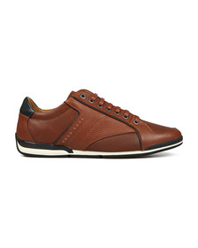 Boss Orange Mens Brown Saturn Low Leather Trainer