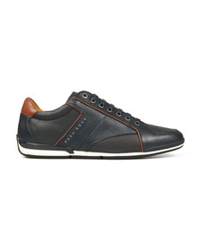 Boss Orange Mens Blue Saturn Low Leather Trainer