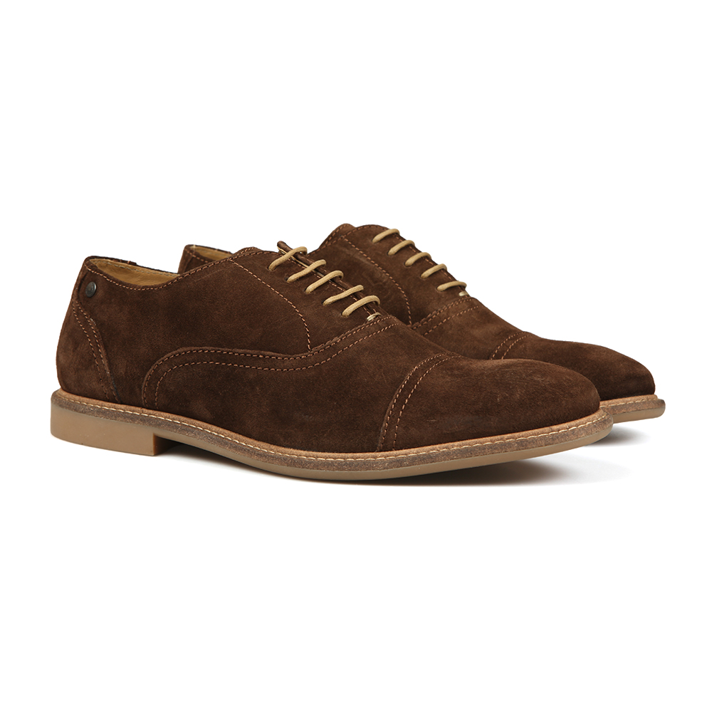 Base London Marston Lace Up Mens Suede Leather Oxford Casual Dress Shoes