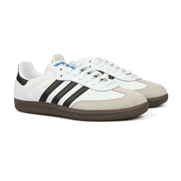 adidas Originals Mens White Samba Leather Trainer main image
