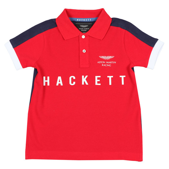 Hackett Boys Red Boys AMR Multi Win Polo Shirt main image