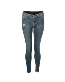 True Religion Womens Blue Halle Super Skinny Super T Jean
