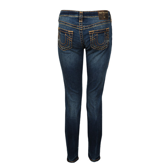 True Religion Womens Blue Mid Rise Halle Super Skinny Jean main image