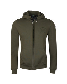 Paul & Shark Mens Green Full Zip Logo Hoody