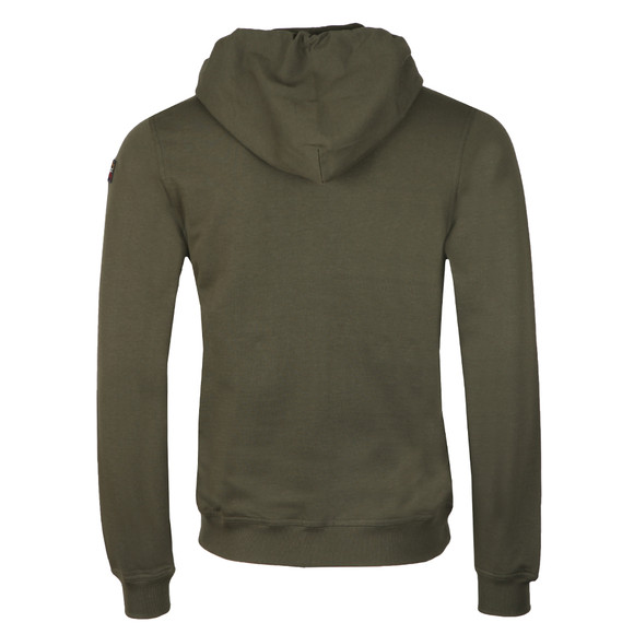 Paul & Shark Mens Green Full Zip Logo Hoody main image