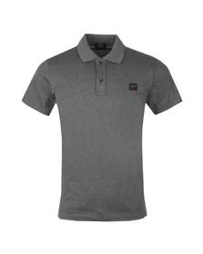 Paul & Shark Mens Grey Shark Fit Square Badge Polo Shirt