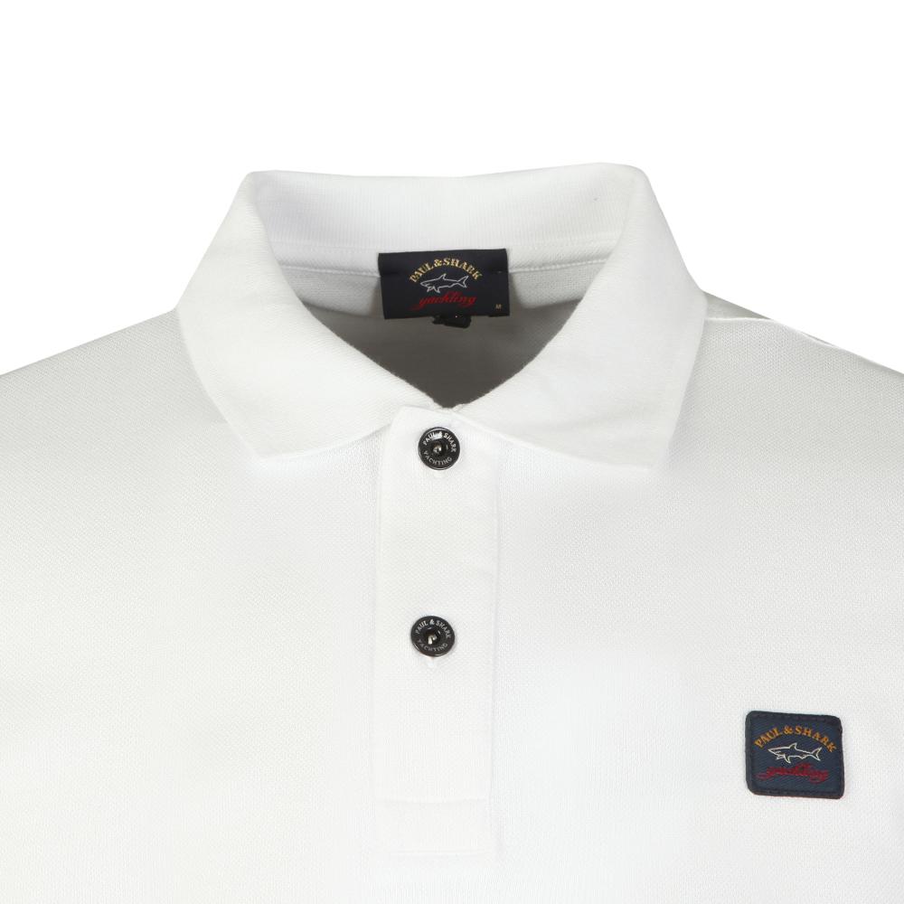... Paul   Shark Mens White Shark Fit Square Badge Polo Shirt main image ... bcd5af236590