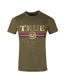 True Religion Mens Green True T Shirt