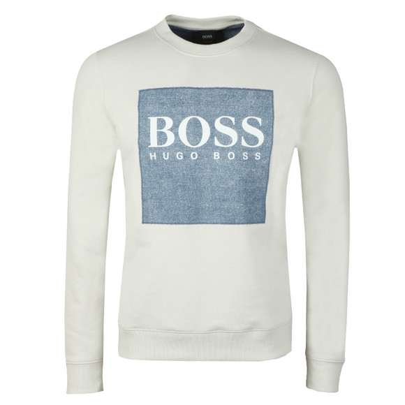 BOSS Mens White Casual Wedford Sweatshirt main image