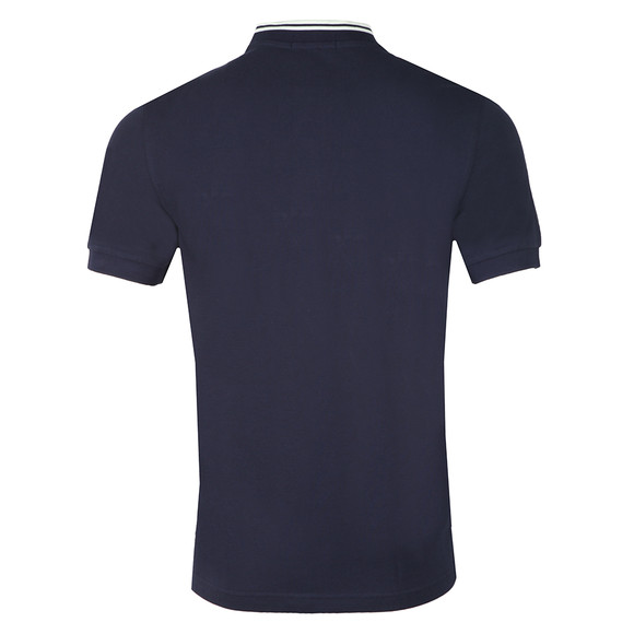 Fred Perry Mens Blue S/S Bomber Collar Polo main image