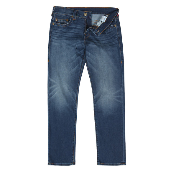True Religion Mens Blue Geno No Flap Slim Jean main image