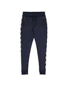 Fresh Couture Mens Blue Poly Taped Jogger
