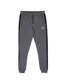 Kings Will Dream Mens Grey Stanford Cuff Velour Panel Jogger