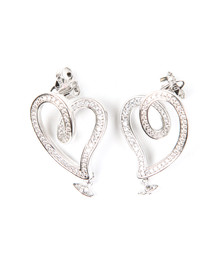 Vivienne Westwood Womens Silver Sosanna Small Earring